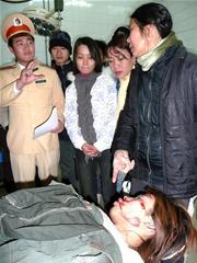 Anh Dương Trung Hiền - người cầm lái đang được chữa trị tại bệnh viện