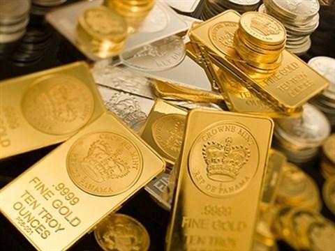 Giá vàng thế giới diễn biến tích cực khi đô la và chứng khoán ảm đạm