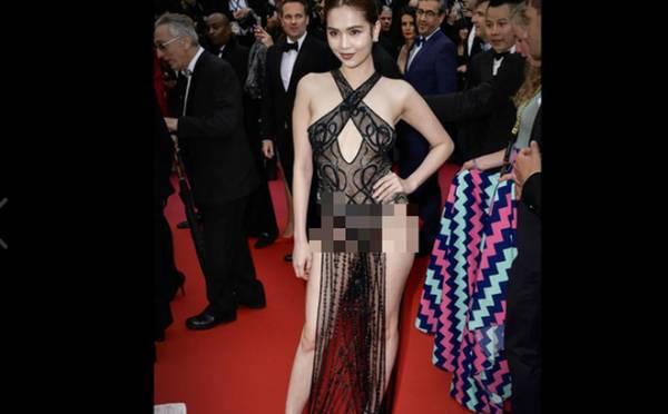 Ngọc Trinh mặc xuyên thấu, CĐM Pháp yêu cầu 'cấm' tham dự Cannes