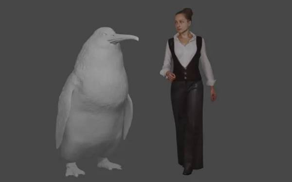 A sketch of an ancient penguin of giant size.