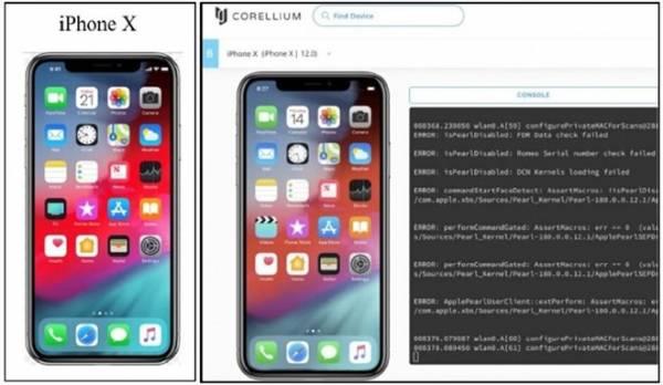 iPhone ảo được cung cấp bởi Corellium gần như giống hệt iPhone thực