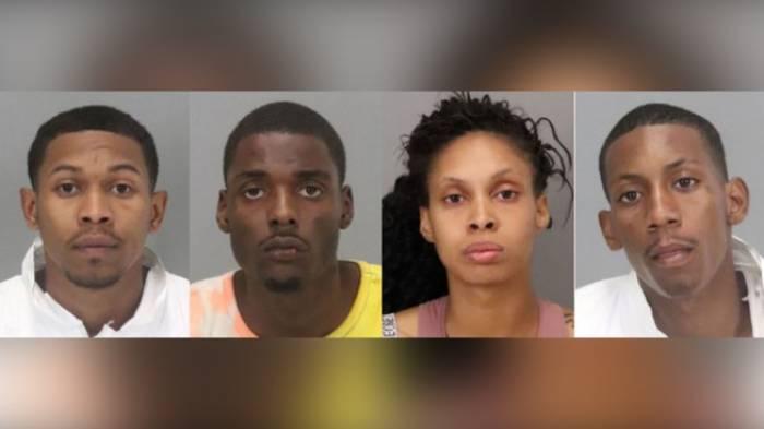 Bốn nghi phạm bị bắt giữ. Ảnh: THE MERCURY NEWS