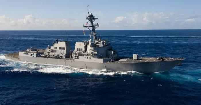 Tàu khu trục USS Wayne E. Meyer vừa tham gia chiến dịch tự do hàng hải mới nhất ở biển Đông Ảnh: Hải quân Mỹ