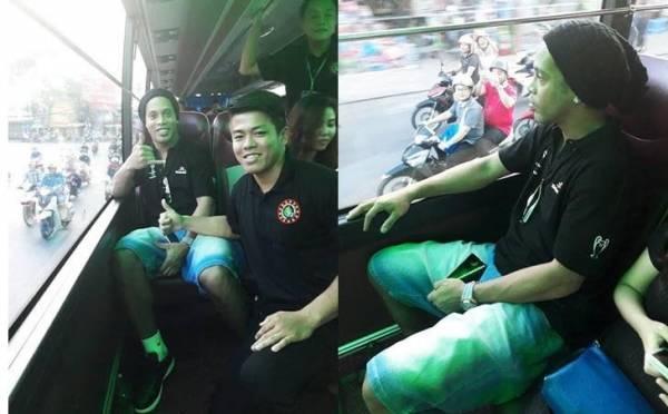 Thực hư chuyện Ronaldinho ngồi trên xe khách ở TP.HCM tìm quán bún chả Hà Nội?