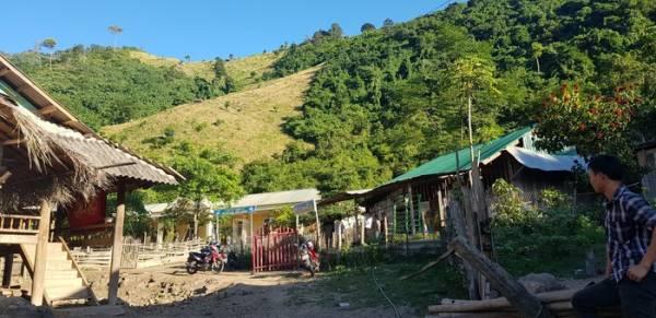 Một góc bản Huồi Xui, xã Keng Đu, huyện biên giới Kỳ Sơn.