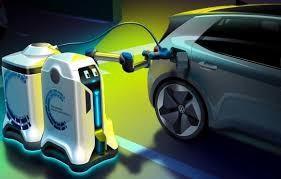 Robot sạc xe điện - Ảnh: Volkswagen group