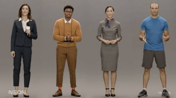 """""""Người nhân tạo"""" của Samsung có thể xuất hiện dưới nhiều hình dạng và biểu cảm khác nhau nhưng thực chất vẫn chỉ tồn tại trên màn hình. Ảnh: CNBC."""
