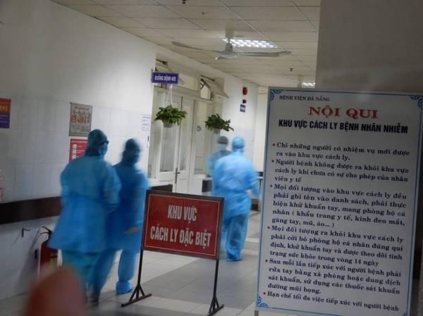 Khu vực cách ly bệnh nhân ở Bệnh viện Đà Nẵng. Ảnh: Đoàn Nguyên.