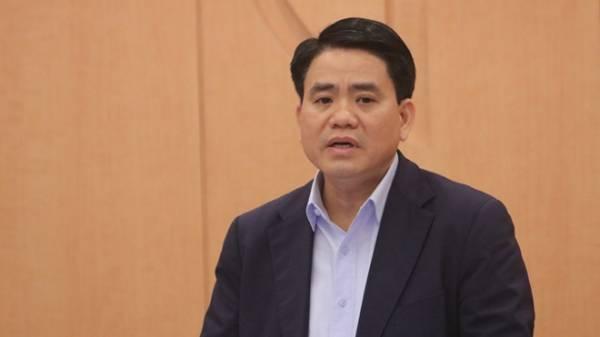 Chủ tịch UBND TP.Hà Nội Nguyễn Đức Chung tại cuộc họp sáng nay, 8.3