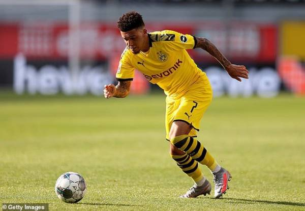 Real Madrid compete with Man Utd for the signature of Jadon Sancho